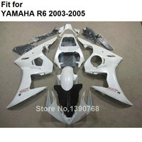 7 Free gifts white motorcycle fairing kit for Yamaha YZF R6 2003 2004 2005 fairings set YZFR6 03 04 05 BC80