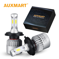 Auxmart H4 H7 H11 H13 9005 HB3 9006 HB4 COB LED Car Headlight Kit Bulb Single