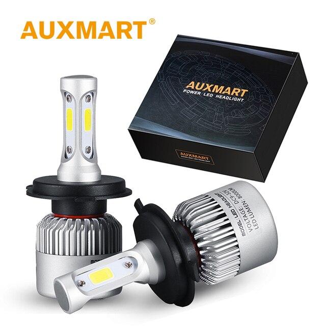 Auxmart LED H7 H4 H11 لمبة H1 H3 HB4 9006 HB3 9005 H13 LED مجموعة مصابيح سيارة 72W 8000lm 6500K LED مصباح السيارات H 7 11 LED سيارة ضوء 12v