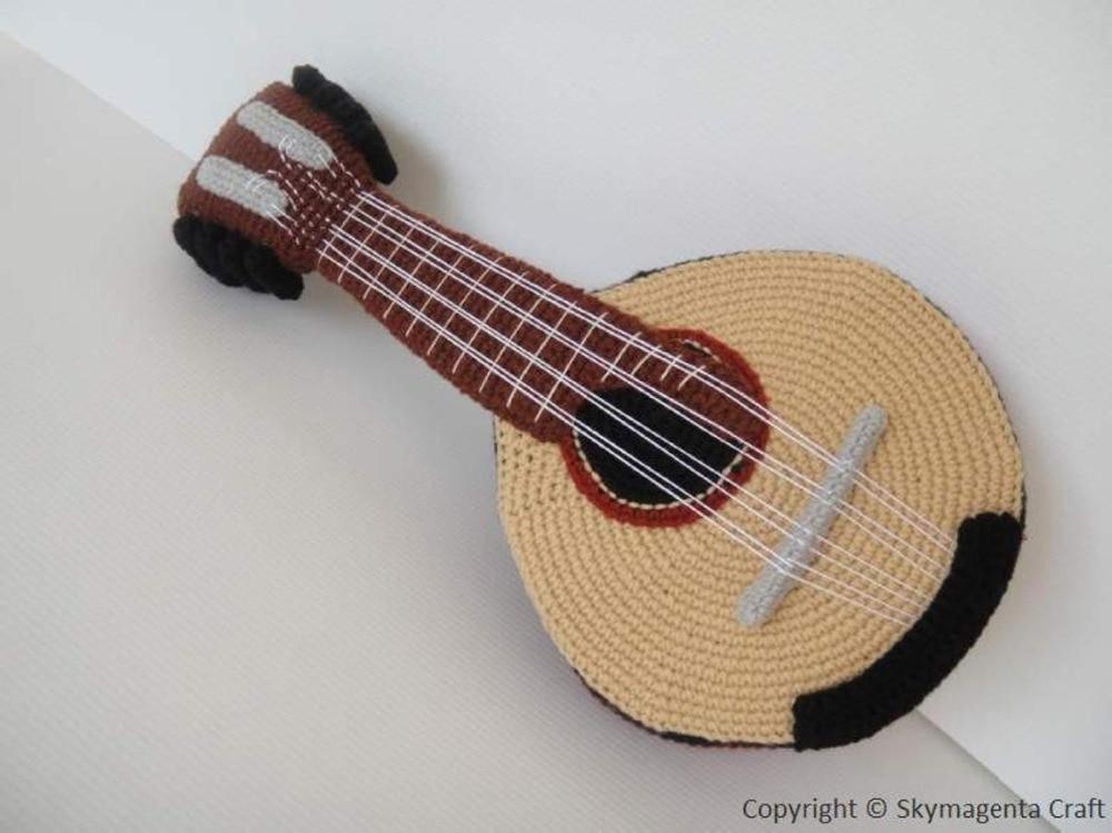 crochet toys  amigurumi  rattle mandolin    model number w15765crochet toys  amigurumi  rattle mandolin    model number w15765