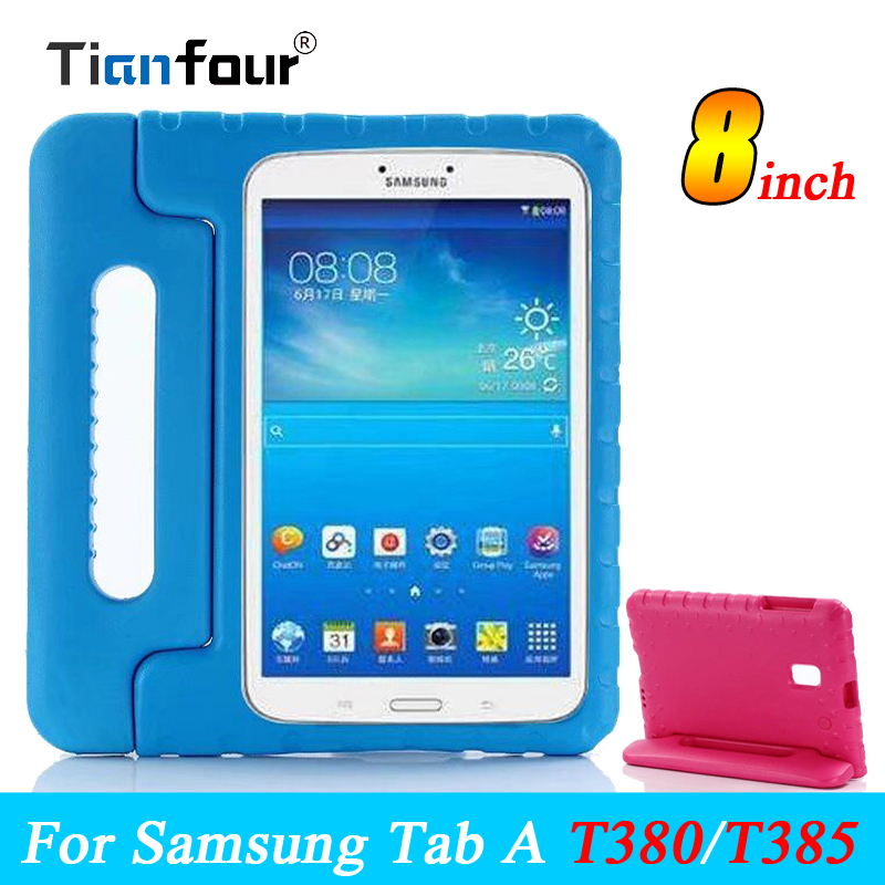 Child Kids EVA Safe Soft Foam Dropproof Shockproof Stand Cases For Samsung Galaxy Tab A 8.0 T380 T385 Cover Defender