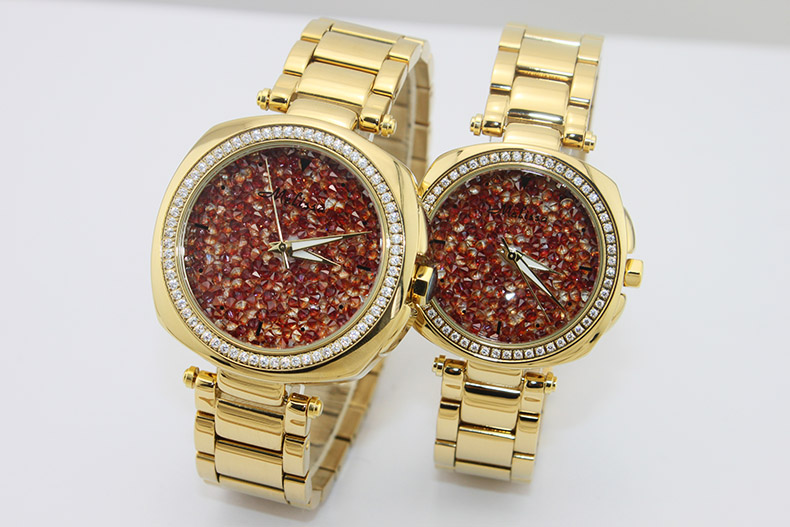 Cool Neutral Stylish Women Handsome Stainless Steel Watches Sparkly Crystals Dress Watch Square Reloj 2 Sizes Montre Femme F8183 Lover's Watches