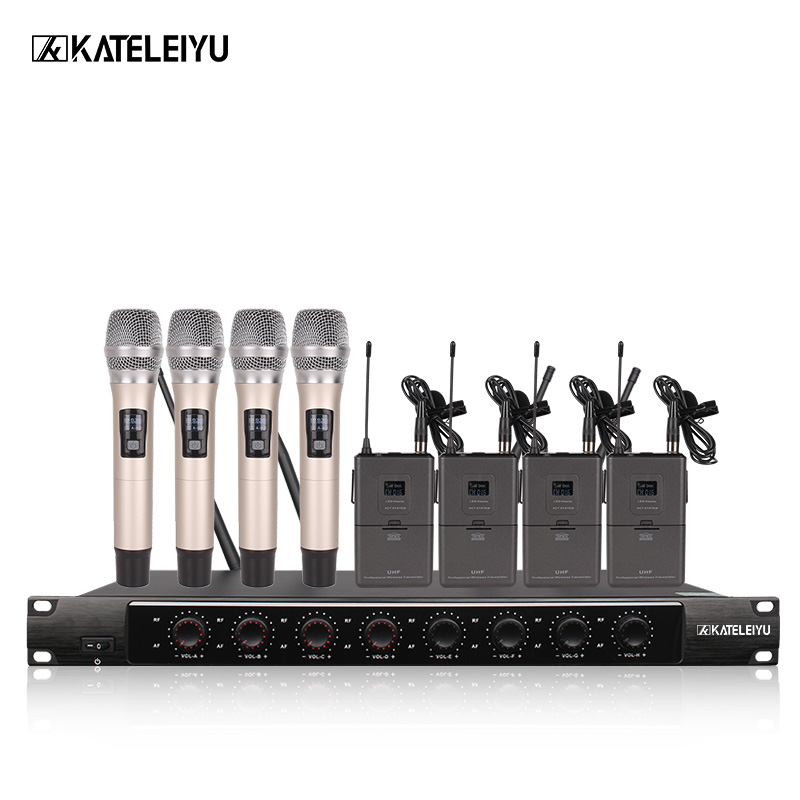 system 8600e professional wireless microphone 8 channel professional vhf 8 stage karaoke. Black Bedroom Furniture Sets. Home Design Ideas