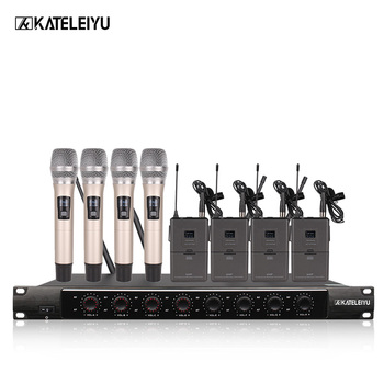 System 8600E Professional Wireless Microphone 8 Channel Professional VHF 8 Stage Karaoke Microphone Handheld Wireless Microphone