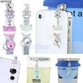 3.5mm Jack Cat Crystal Dust Plug Anti Earphone Cap Stopper For iPhone 6 for Samsung #L060# new hot