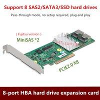 LSI 9211 8i HBA hard disk riser card 8 internal SATA3+SAS2 port support Digging BHD Free shipping