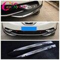 2 Pçs/set ABS Frente Chrome Bumper Protector Guarnição Etiqueta Para Nissan Qashqai J11 Cromo 2014 2015 2016 Car Styling