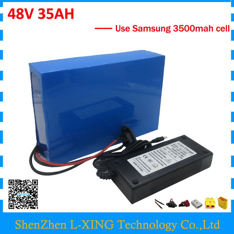 Free customs duty 48V bike battery 48V 35AH scooter battery 2000W 48V 35AH use samsung 3500mah cell 50A BMS with 2A Charger free customs duty 1000w 48v battery pack 48v 24ah lithium battery 48v ebike battery with 30a bms use samsung 3000mah cell