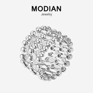 Modian новый стиль 100% стерлингового серебра 925 кольца на палец может изменить размер удивительное серебряное кольцо для женщин новые свадебны...