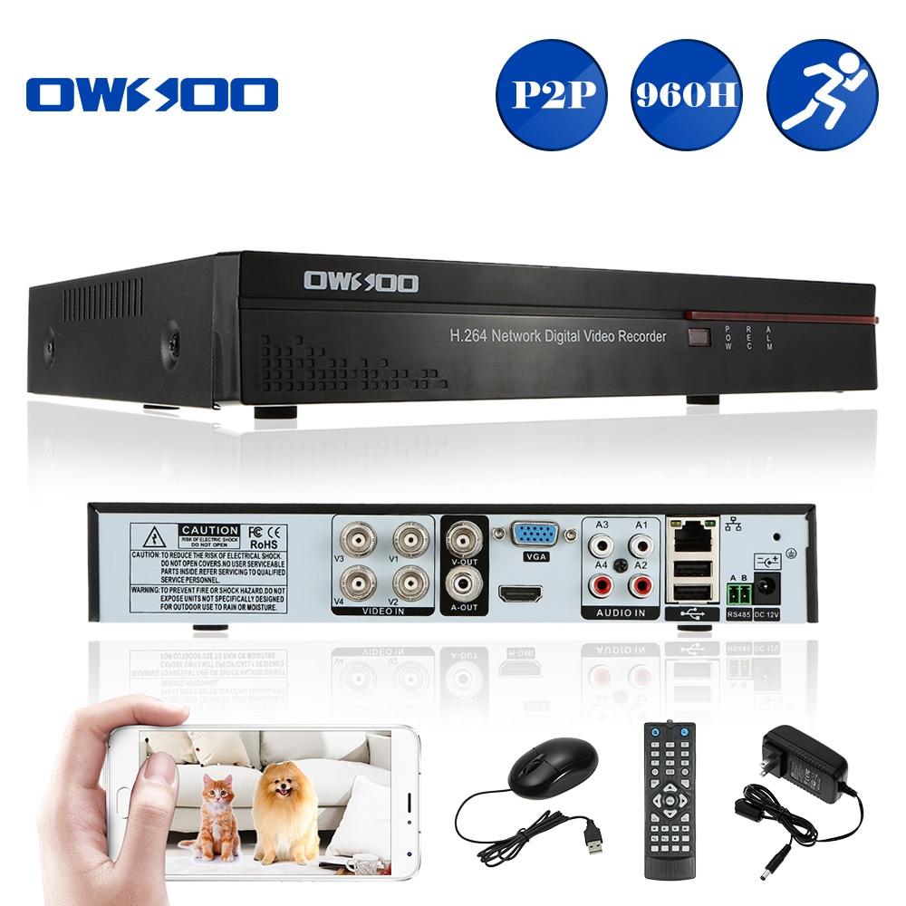 US $31 99 26% OFF|OWSOO 4CH 960H DVR Video Recorder CCTV D1 P2P H 264  Security Mini DVR 4CH HD/VGA/BNC Output Digital Video Recorder For CCTV-in