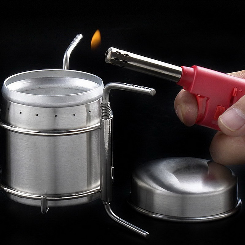 Portable Outdoor Stoves Stainless Steel Mini Ultra-light Spirit Burner Alcohol Stove Camping Stove Furnace