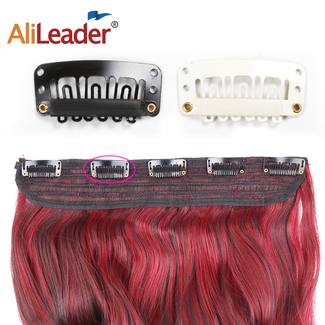 AliLeader 20 PCS Black Stainless Steel Wig Clips Combs Snap Clips with Rubber for Hair Extension Toupee DIY 6 Teeth Snap-Comb 1