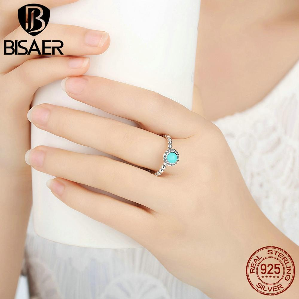 76523ea40 2016 New Birthday Blooms Ring December Turquoise 100% 925 Sterling Silver  Rings For Women Compatible with Pandora Jewelry-in Rings from Jewelry ...