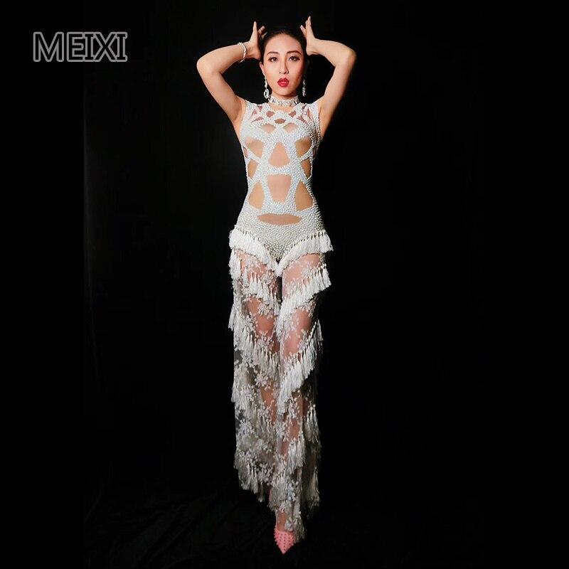 Super shiny pink glass diamond rhinestone elastic dress bar nightclub  concert singer dancer costumeUSD 91.14 piece 5a813b57356e