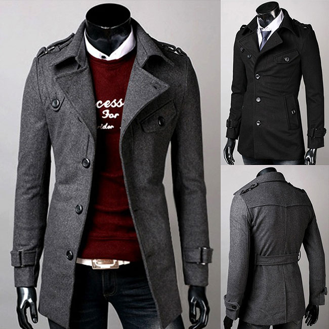 Aliexpress.com : Buy Free Shipping 2015 New Mens Wool Coats Single ...