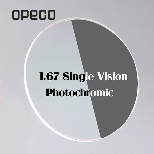 a6097138f1 Opeco 1.67 Photochromic Single Vision Lenses High index brown   gray  Transition Photogray prescription lenses myopia