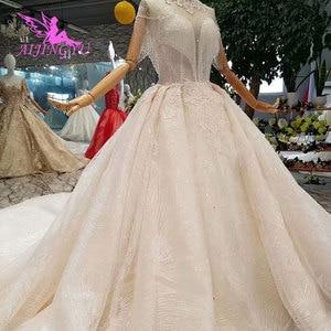 Image 4 - Aijingyu rendas vestidos de casamento vestido de noiva personalizado branco vestidos loja online china vestido de casamento