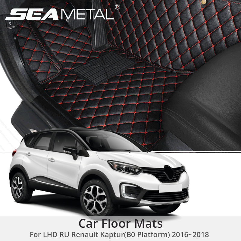 Pour LHD RU Renault Kaptur B0 2018 2017 2016 tapis de sol de voiture tapis adaptés aux besoins du client tapis en cuir tapis Cargo revêtements Pad Auto accessoires ensemble