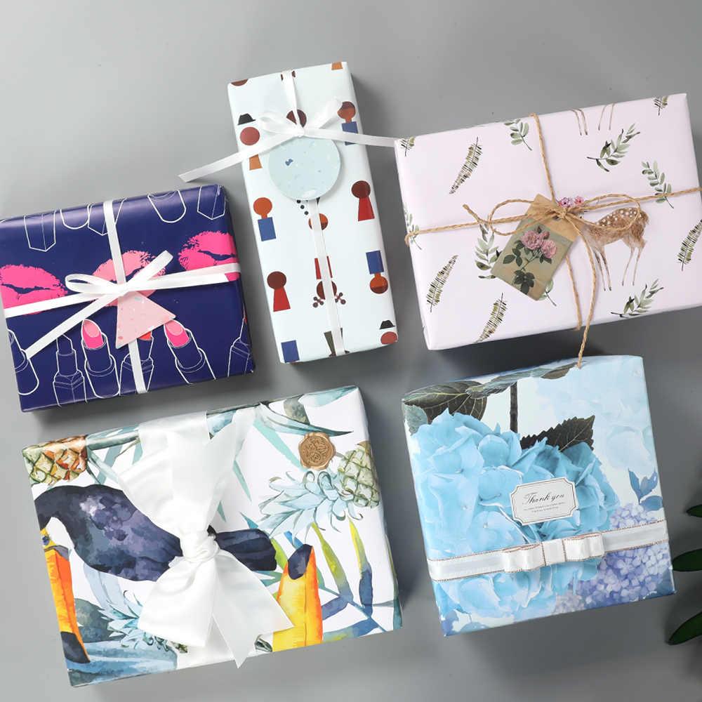 50x70 cm Renkli Hediye sarma kağıdı rulosu Düğün için, Çocuk Doğum Günü, Tatil, bebek Duş Hediye Paketi kraft el işi kağıdı Dekor Hediyeler