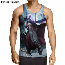 Summer vest One Piece Tank Tops Anime Tank Top Cool Fitness Bodybuilding Vest Men Women Hipster 3D t shirt tees plus size 5XL