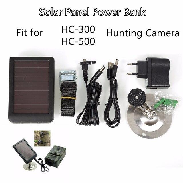 External Solar Powered Panel Charger  Power Supply  for Suntek Hunting Camera HC300M HC350M HC550M HC550G HC700G 2
