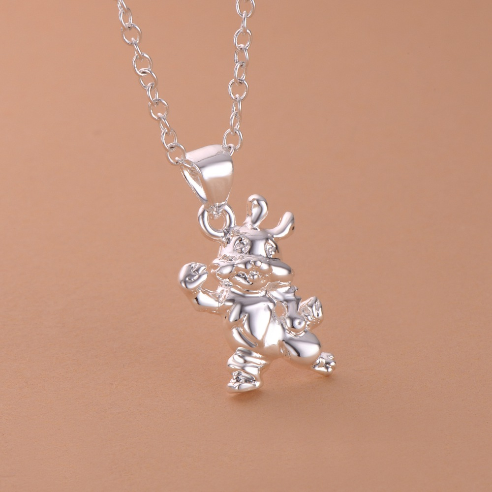 special cute cow silver plated Necklace New Sale silver necklaces & pendants /YQCKAEES DNPBAOON