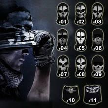 Máscara facial de caveira para motocicleta, máscara fantasma para ciclismo, motocicleta, cachecol, máscara, cs, ski, chapéu, halloween, para festa