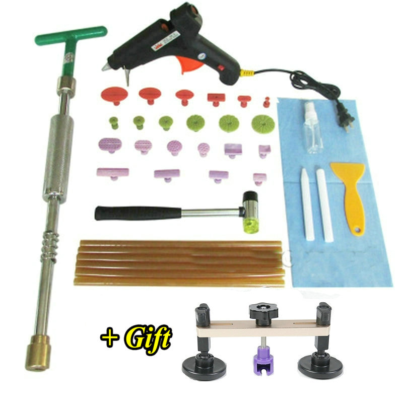 2 In 1 Slide Hammer Dent Puller Lifter Kit Brass Head Car Paintless Dent Repair Hail