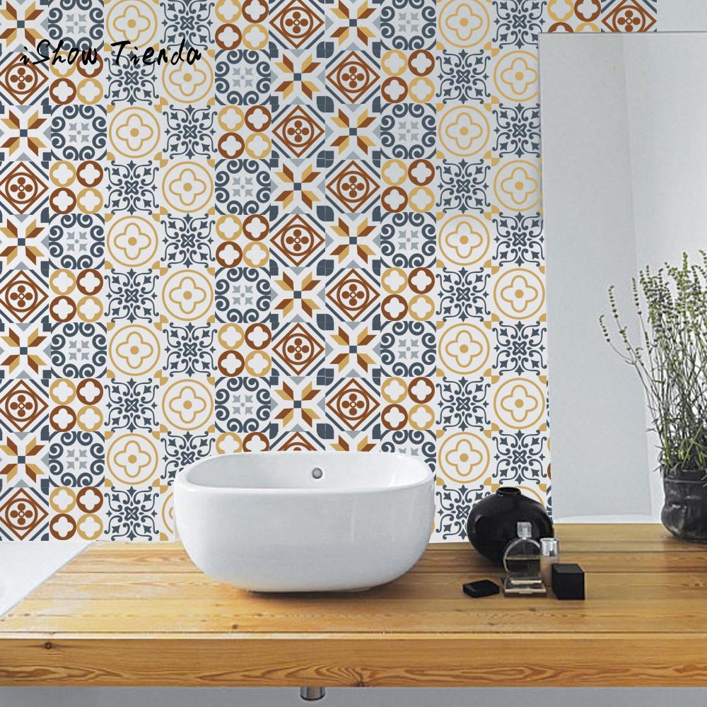 6Pcs Self Adhesive Tile Art Wall Decal Sticker DIY Kitchen Bathroom ...