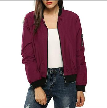 Summer Women Windbreaker Jacket New Fashion Women Thin Basic Bomber Jacket Long Sleeve Coat Casual Female Jacket Outerwear 9