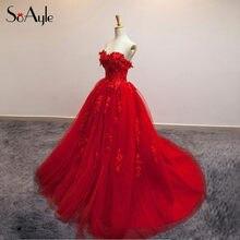 16d9b067c1bf SoAyle Sweetheart Lace Red Prom Dresses 2017 Gorgeous Design Vestidos De  Festa Vestido Tulle Vestidos Longo Long Formal Gowns