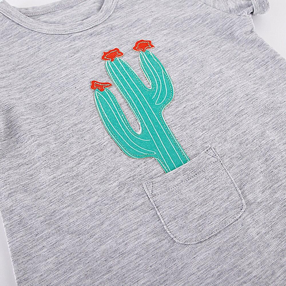 Nowonarodzone chłopcy Romper Summer Baby Boy Girl Cartoon Rośliny - Odzież dla niemowląt - Zdjęcie 4