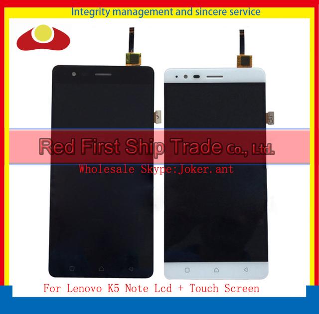 "Alta calidad 5.5 ""para lenovo k5 note completa pantalla lcd de pantalla táctil digitalizador asamblea completa del sensor negro oro blanco + tracking"