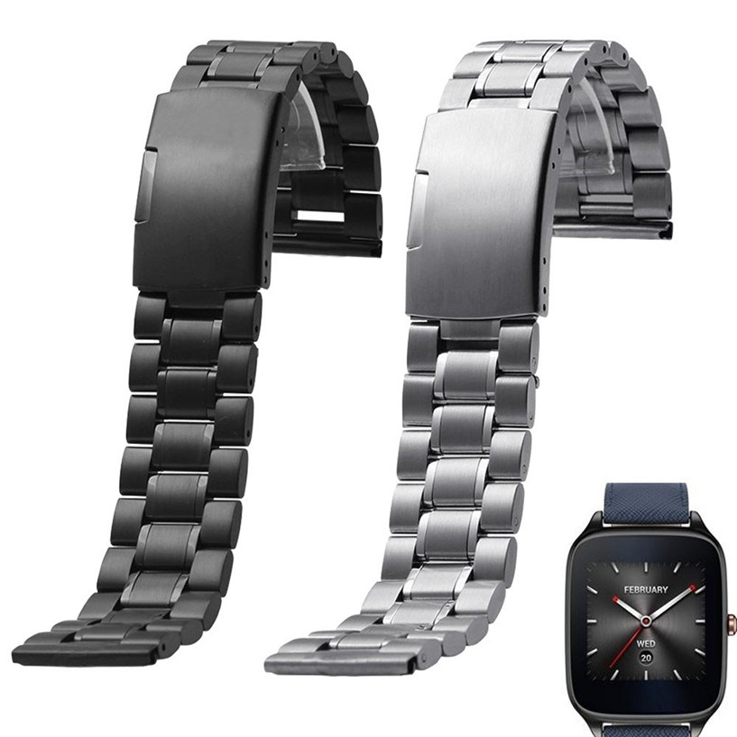2017 Fabulous hot Stainless Steel Quick Release Watch Band Strap for ASUS ZenWatch 2 WI501Q dropping AUG26