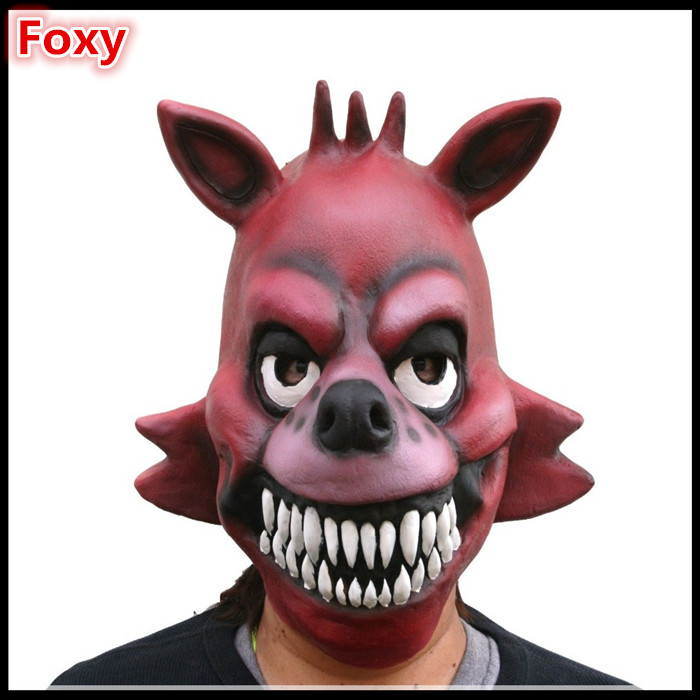 2016 Free shipping New Halloween Party Cosplay Movies Original Five Nights At Freddy's 4 FNAF Foxy Freddy Latex Mask image
