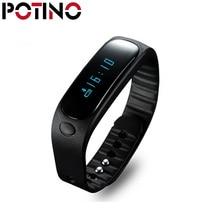 Potino Водонепроницаемый SmartBand E02 здоровья фитнес-трекер Спорт умный браслет для IOS Android Flex Smart группа PK TW64