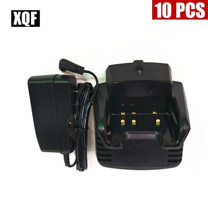 XQF 10PCS  Desktop Rapid Battery Charger For Vertex Handheld Radio VX-351 VX-354 VX351 VX354 Radio CD-34
