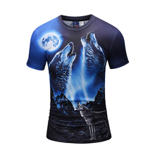 2018 Cool Men s O-Neck T Shirt 3D Animal Wolf Printed Top Tee For Male  Designer Teens Bys Tee Shirt Bodybuilding Fitness c4c995a7b245