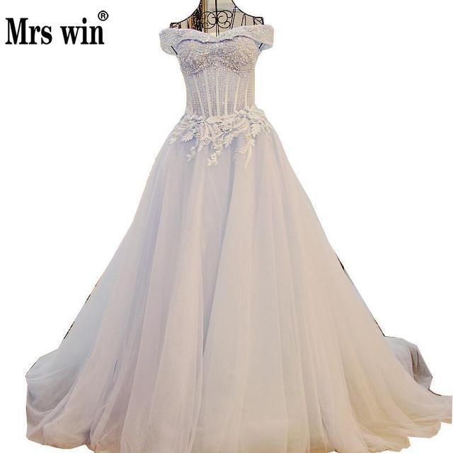 2017 Spring High Grade Tiffany Blue Wedding Dress Luxury Pearls ...