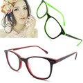 Новые модные оправы для оптических стекол женщины овальный красный кадр очки с пружинным шарниром óculos masculino де грау B041200