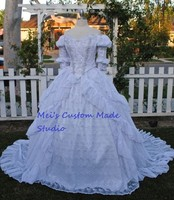 Custom Made Ever After Inspired Ballgown Beaded Sparkle Chiffon Ruffled Marie Antoinette Gown Party Dress Wedding