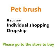 Новая кисточка для удаления волос гребни для собак собака кошка меховая щетка двухсторонняя домашняя диванная одежда Чистящая ворсовая щетка Самоочищающийся основа