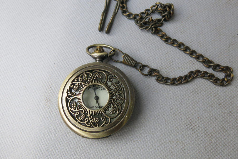 Rare Old Qing Dynasty royal BRASS GLASS clock  mechanical Pocket watch, can work, with mark, Mediterranean style, Free shipping