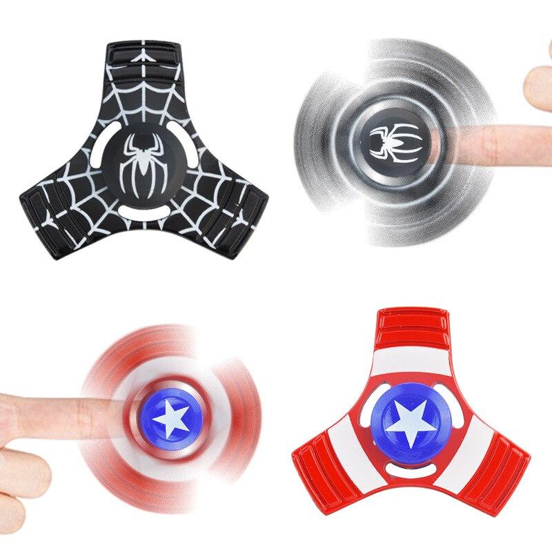 Человек-паук Spinner Металлический ручной Непоседа блесны супер герой ВДГ три Figet Spin ...