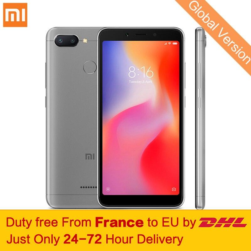 En franchise d'impôt! Mondial Version Xiaomi Redmi 6 4 gb 64 gb Smartphone MTK Helio P22 Octa Core 5.45 18:9 Plein Écran 12MP + 5MP Double Caméras