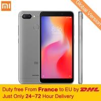 Free tax! Global Version Xiaomi Redmi 6 4GB 64GB Smartphone MTK Helio P22 Octa Core 5.45 18:9 Full Screen 12MP+5MP Dual Cameras