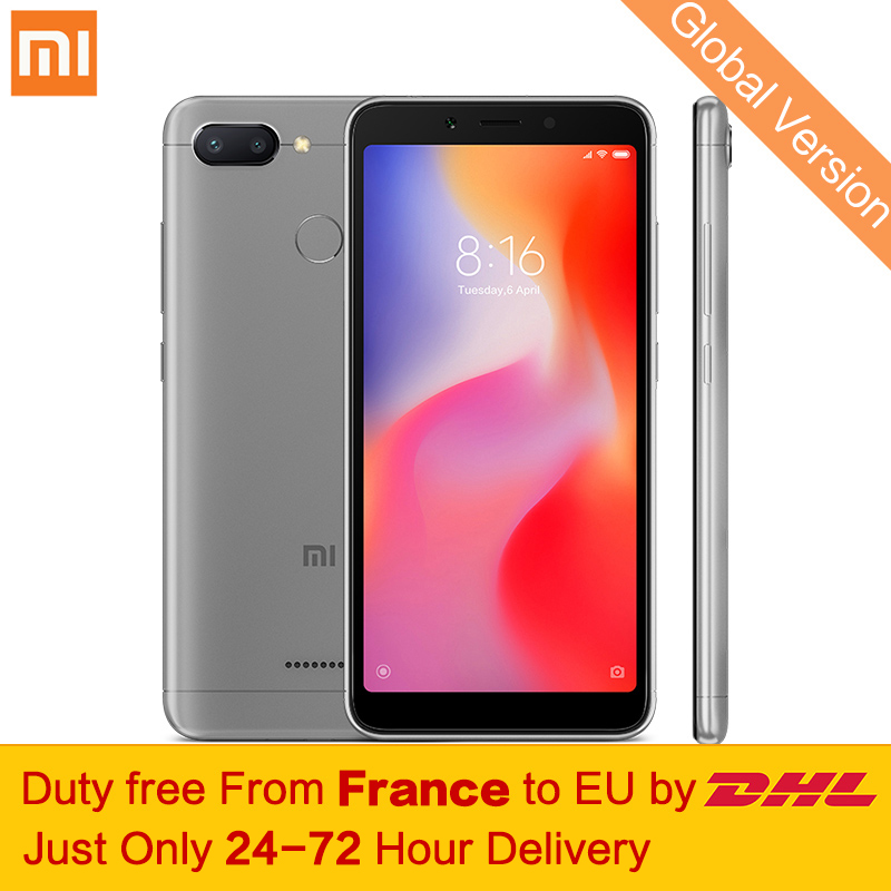 "Free tax! Global Version Xiaomi Redmi 6 4GB 64GB Smartphone MTK Helio P22 Octa Core 5.45"" 18:9 Full Screen 12MP+5MP Dual Cameras"