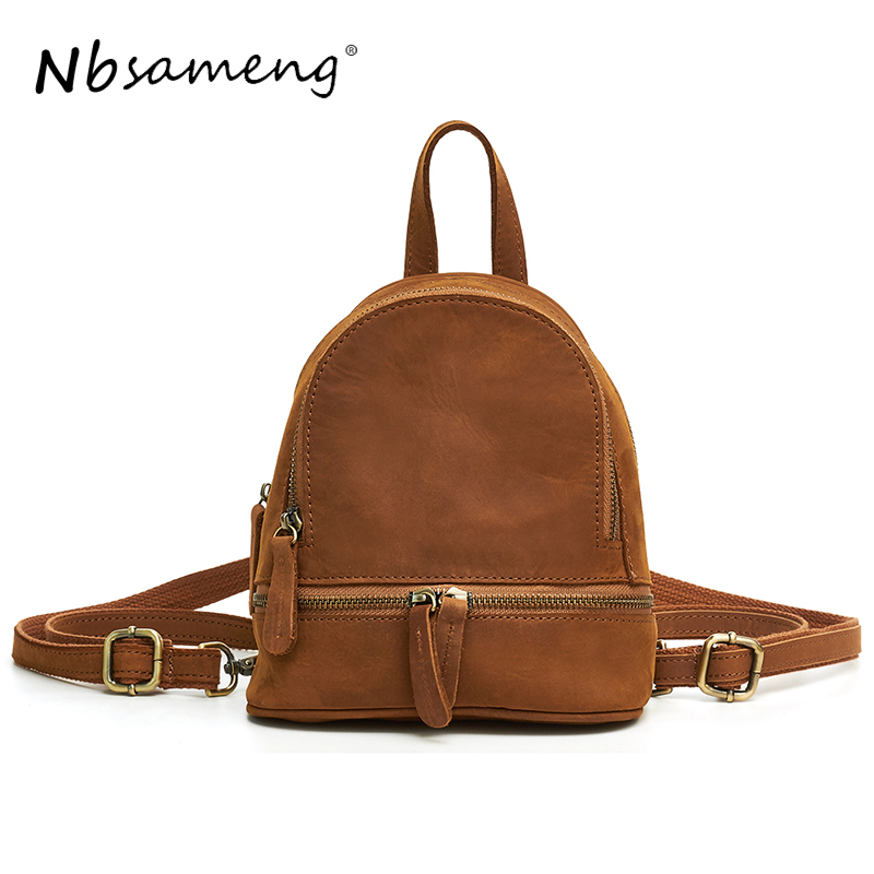 NBSAMENG 2018 Women Genuine Leather Backpack School Bags For Girls Female Shoulder Bags Back Pack Bolsa Feminina Mochila