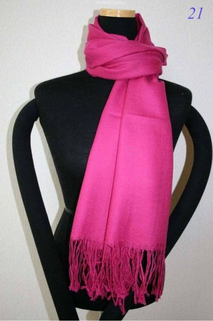 Free Shipping New Hot pink Ladies Pashmina Silk Shawl Scarf Warm Wrap Wholesale Retail