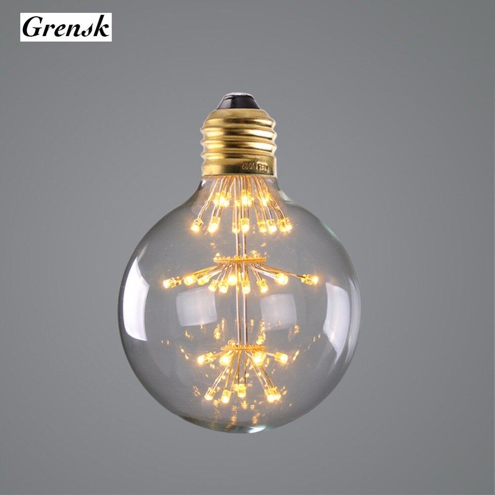 Firework Starry,G95 Globe Lamp,3W,Super Warm 2200K,Edison LED Light Bulb,Decorative Lighting,Dimmable